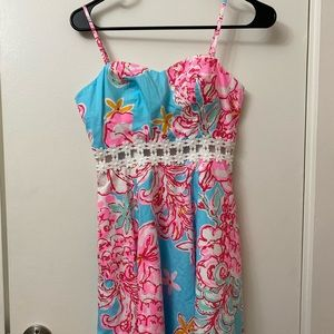 Lily Pulitzer A Line floral dress